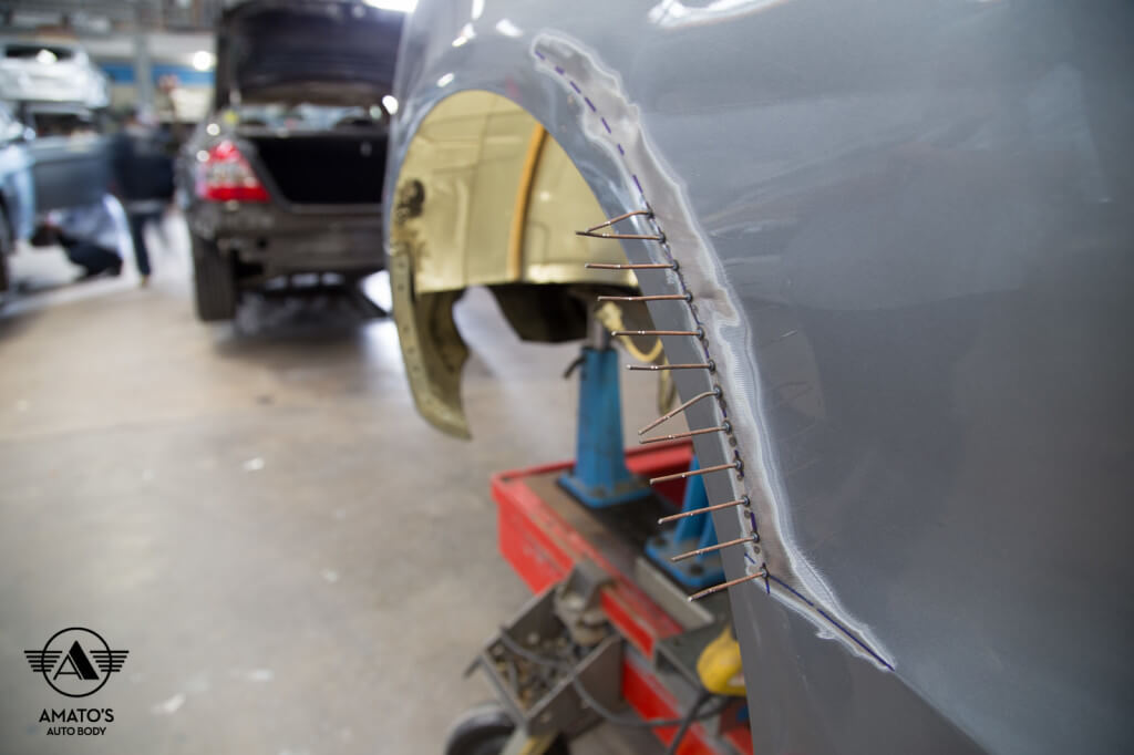 Amatos Auto Body Audi Authorized Certified S4 Auto Body Painting Fender Forming