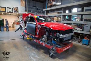 Amatos Auto Body Audi Authorized Certified S4 Auto Body Painting Frame Repair