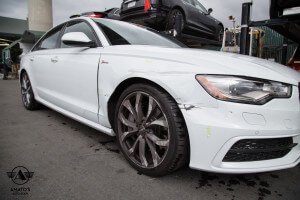 Amatos Auto Body Audi Authorized Certified S8 Auto Body Painting Fender Repair2