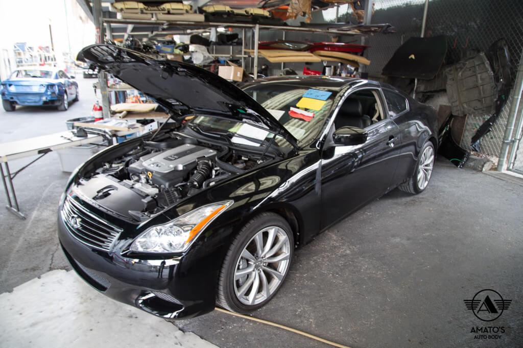 Amatos Auto Body Infiniti Authorized Certified G37 Auto Body Painting Door Repair