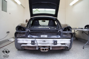 Amatos Auto Body Porsche Authorized Certified Cayman Auto Body Painting Bumper Repair