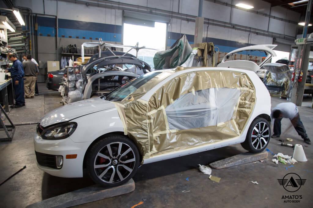 Amatos Auto Body VW Volkswagen Authorized Certified GTI Auto Body Painting Door Repair