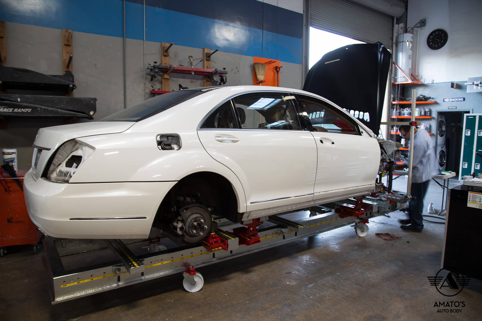 Mercedes certification amato 39 s auto body for Mercedes benz collision repair